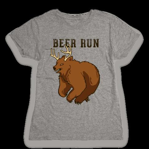 Beer Run Womens T-Shirt