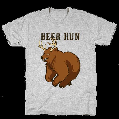 Beer Run Mens T-Shirt