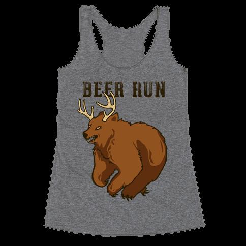 Beer Run Racerback Tank Top