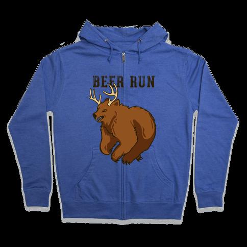 Beer Run Zip Hoodie