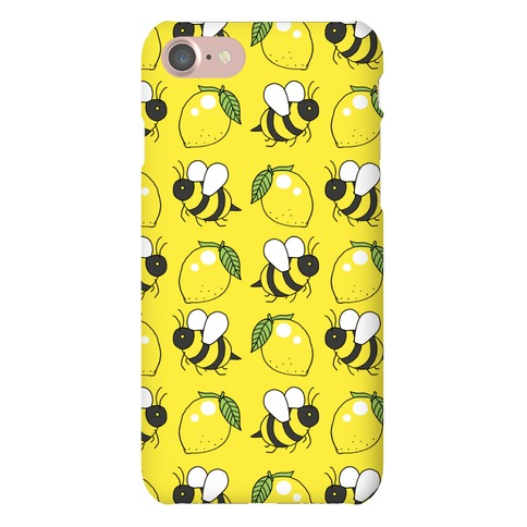 Lemon and Bee Phone Case