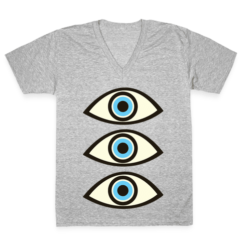 Evil Eye V-Neck Tee Shirt