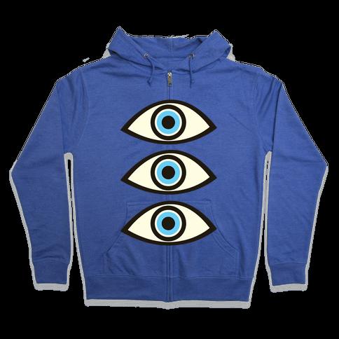 Evil Eye Zip Hoodie
