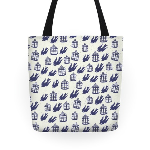 Bioshock Infinite Pattern (Bird and Cage) Tote