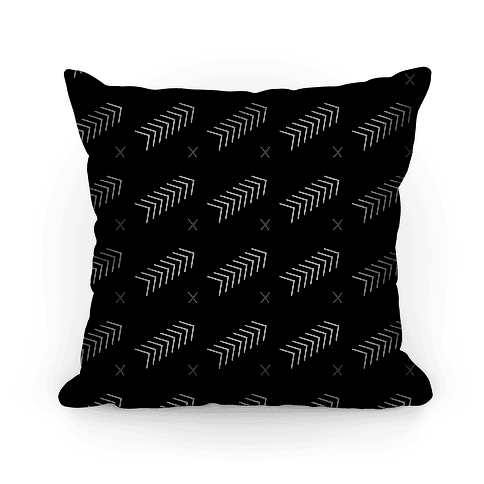 Black Abstract Chevron Pattern