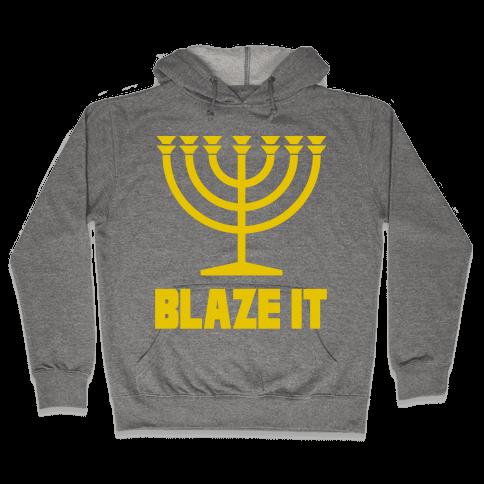 Blaze It Menorah Hooded Sweatshirt