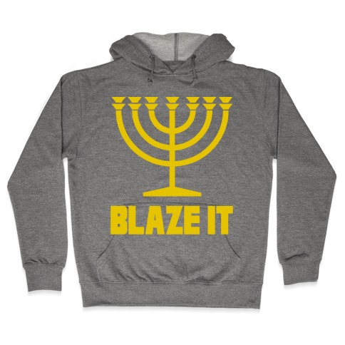Blaze It Menorah Hooded Sweatshirt