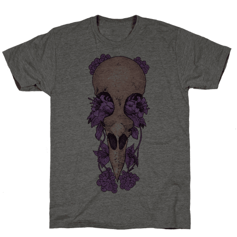 Bird Skull Mens T-Shirt