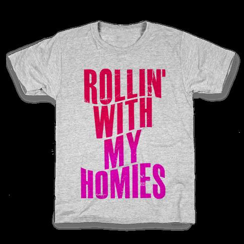 Rollin' With My Homies Kids T-Shirt