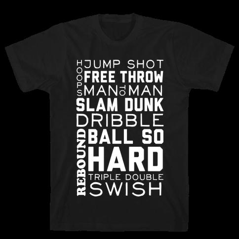Basketball Typographic (Dark)