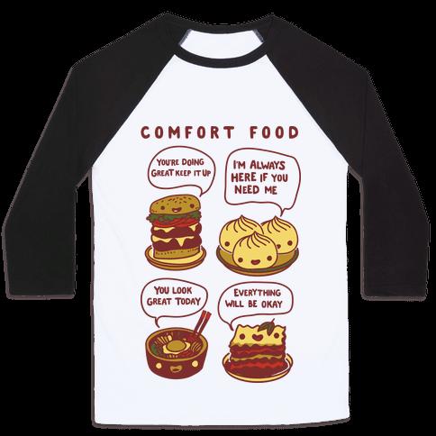 Comfort Food Baseball Tee