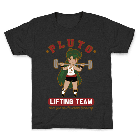 Pluto Lifting Team Parody Kids T-Shirt