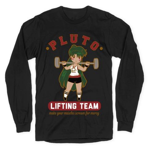 Pluto Lifting Team Parody Long Sleeve T-Shirt
