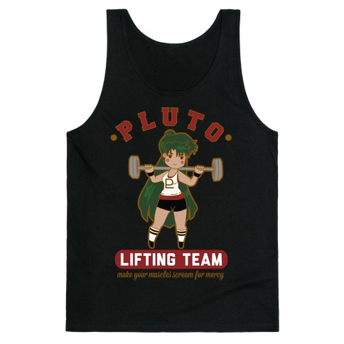 Pluto Lifting Team Parody Tank Top