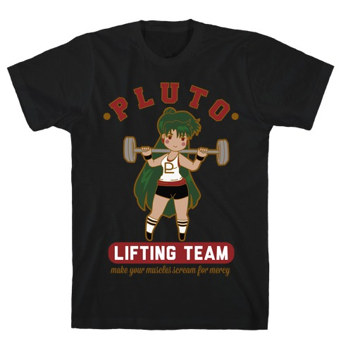 Pluto Lifting Team Parody T-Shirt