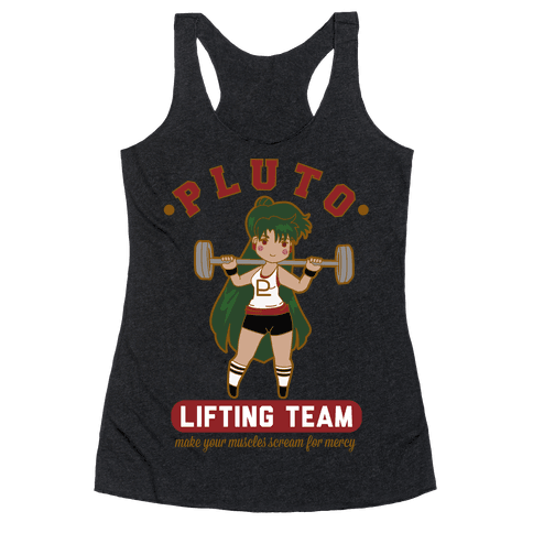 Pluto Lifting Team Parody Racerback Tank Top