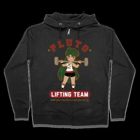 Pluto Lifting Team Parody Zip Hoodie