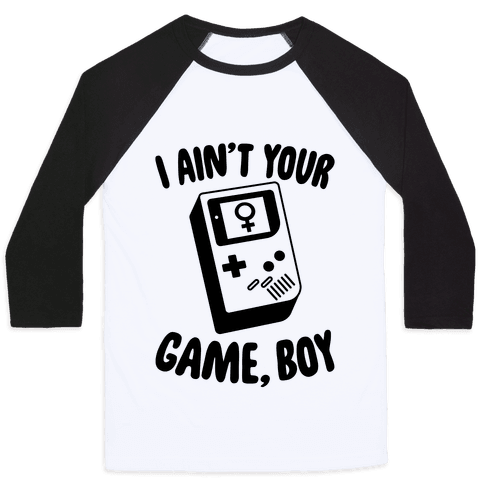 I Ain't Your Game, Boy Baseball Tee