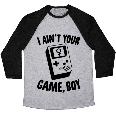 I Ain't Your Game, Boy Baseball Tee