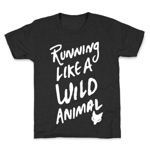 Running Like A Wild Animal Kids T-Shirt