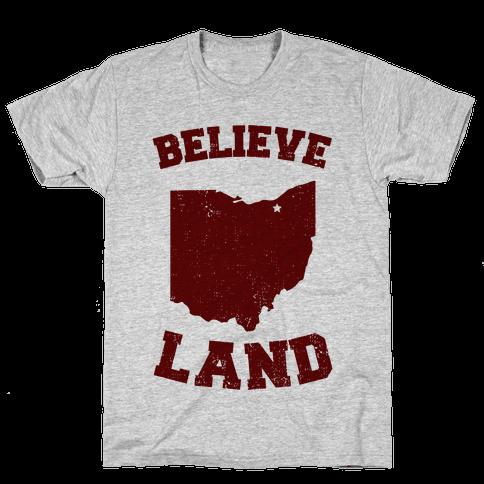 Believe Land Mens T-Shirt