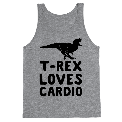 T-Rex Loves Cardio Tank Top