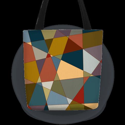 Geometric Mosaic Pattern Tote