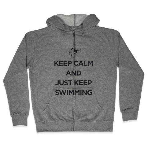 Keep Swimming (Dory) Zip Hoodie