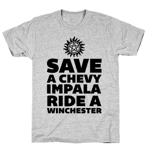 Save a Chevy Impala, Ride a Winchester Mens T-Shirt