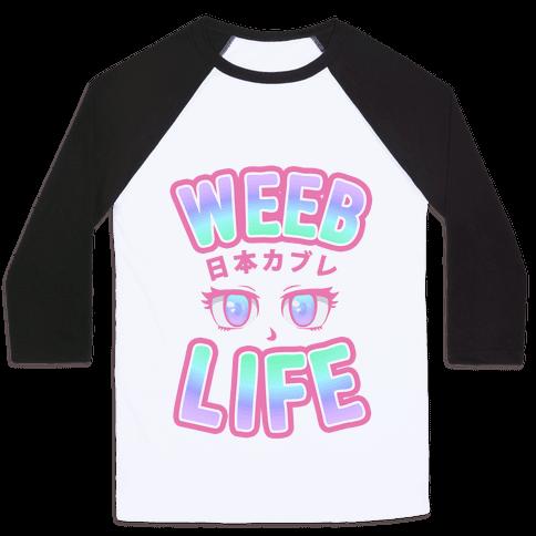 Weeb Life (Thug Life Parody) Baseball Tee