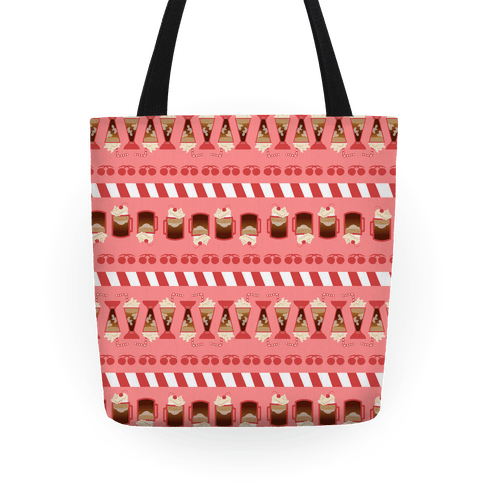50s Diner Root Beer Floats Pattern Tote
