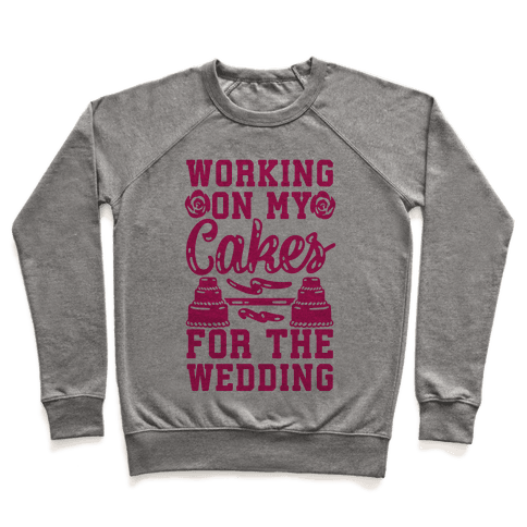 Working On My Cakes For The Wedding Pullover