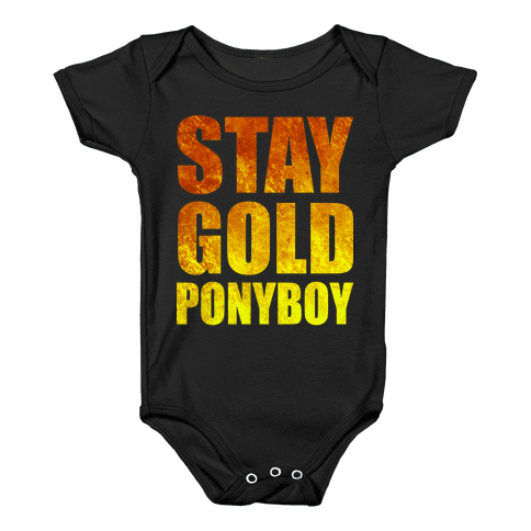Stay Gold Baby Onesy
