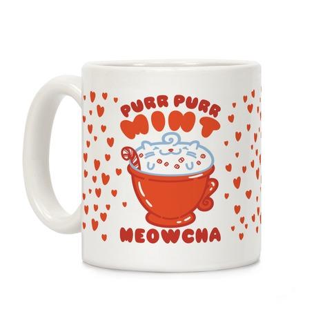 Purr Purr Mint Meowcha Coffee Mug