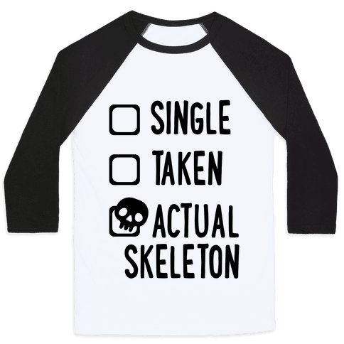 Actual Skeleton Baseball Tee