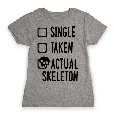 Actual Skeleton Womens T-Shirt