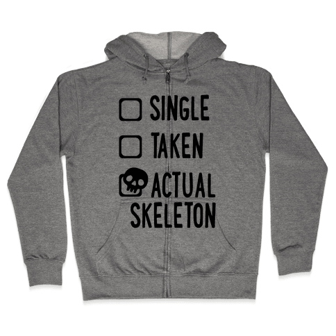 Actual Skeleton Zip Hoodie