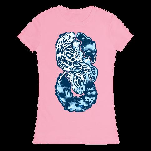 Infinity Snow Leopard (Alternate) Womens T-Shirt