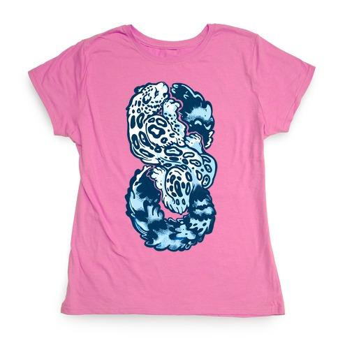 950b18591cdf Infinity Snow Leopard (Alternate) T-Shirt | LookHUMAN