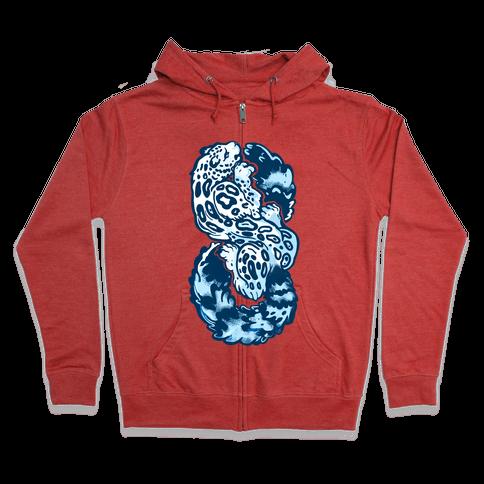 Infinity Snow Leopard (Alternate) Zip Hoodie