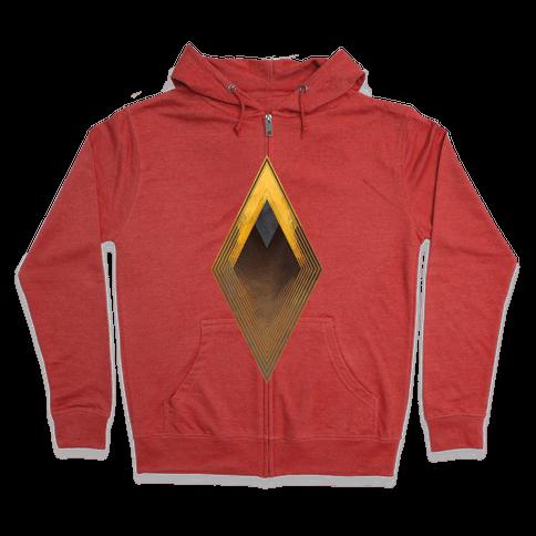 Golden Diamond Zip Hoodie