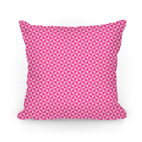 Pink Pinwheel Pattern Pillow