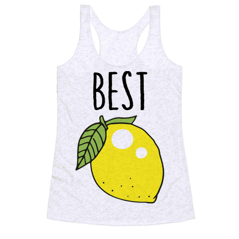 Best Friends: Lemon Racerback Tank Top