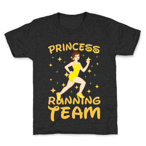 Princess Running Team (yellow) Kids T-Shirt