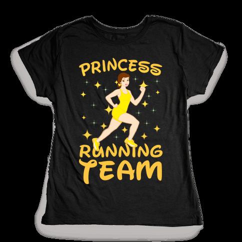 Princess Running Team (yellow) Womens T-Shirt