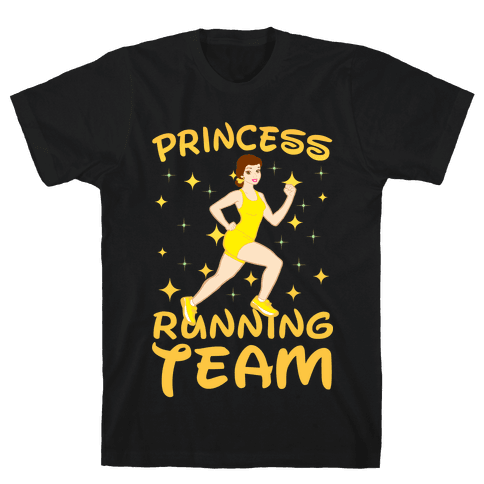 Princess Running Team (yellow) Mens T-Shirt