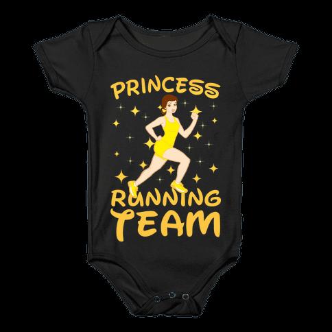 Princess Running Team (yellow) Baby Onesy