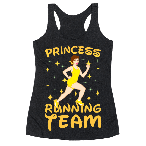 Princess Running Team (yellow) Racerback Tank Top