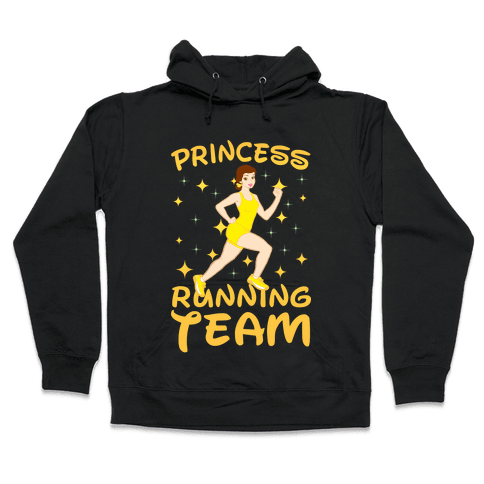 Princess Running Team (yellow) Hooded Sweatshirt