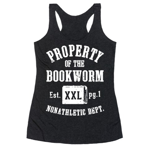 Bookworm Non Athletic Department Racerback Tank Top